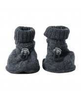 Grey winter wool baby shoes