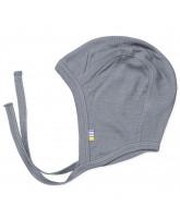 Grey wool/silk baby hat