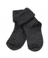 Grey baby wool socks