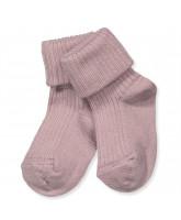 Pink wool baby socks