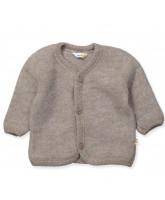 Beige wool fleece cardigan