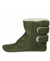 Green wool slippers