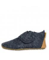 Navy wool slippers