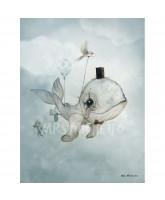 Dear Whalie poster - 50x70 cm
