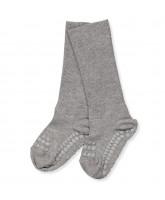 Grey bamboo non-slip socks