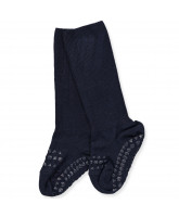 Navy bamboo non-slip socks