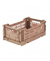 Folding box mini - warm taupe