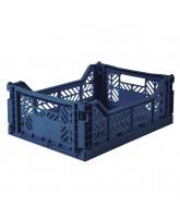Folding box midi - navy