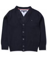 Navy knitted cardigan - boy
