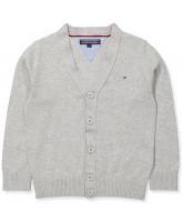 Grey knitted cardigan - boy