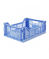 Folding box midi - baby blue