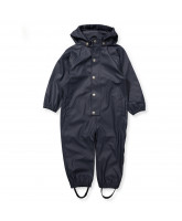 Navy rubber rainsuit