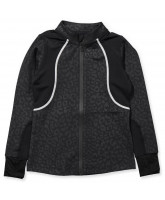 Black leo zip jacket