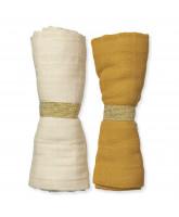 2 pack organic muslin cloth