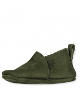 Green slippers - suede