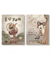 2 pack Moon Love cards