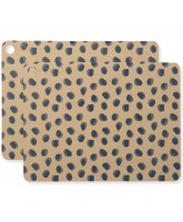 2 pack leopard placemat