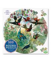 Round puzzle 500 pcs - hummingbirds