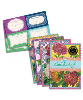 4 pack notebooks - flowers