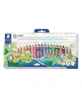 Chunky 3-in-1 color pencils 18 pcs