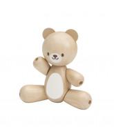 Wooden teddy bear