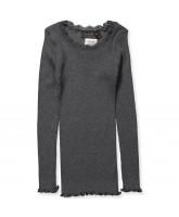 Grey silk LS t-shirt