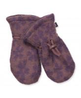 Flower wool fleece mittens