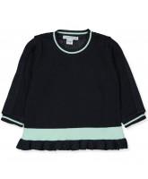 Organic navy sweater