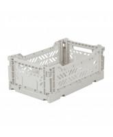 Folding box mini - light grey