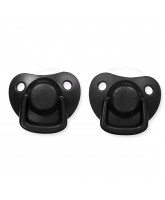 2 pack black dummies 0-6 months