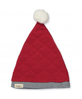 Red quilted christmas hat