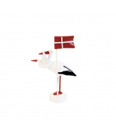 Stork with flag