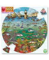 Puzzle 500 pcs - Fish and boats