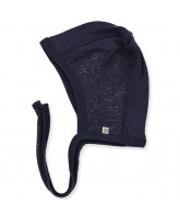 Navy wool baby hat
