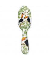 Hairbrush w. toucans - small
