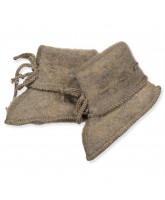 Organic wool fleece booties