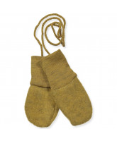 Organic wool fleece baby mittens