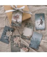 Flowers & Tivoli gift tags - 10 pcs