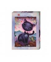 Black Kitty puzzle - 1000 pcs