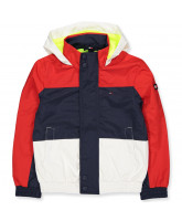 Navy/red jacket