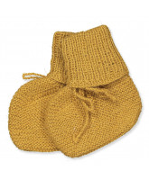 Mustard wool baby socks