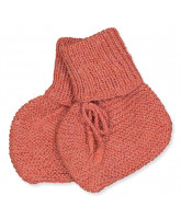 Terracotta wool baby socks