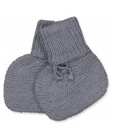 Grey wool baby socks