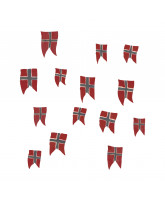Wall sticker - Norwegian flags 14 pcs
