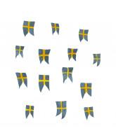 Wall sticker - Swedish flags 14 pcs