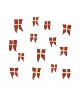 Wall sticker - Danish flags 14 pcs