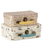 2 pack fabric suitcase