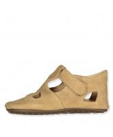 Beige slippers - suede