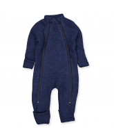 Blue wool fleece playsuit