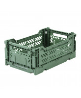 Folding box mini - almond green